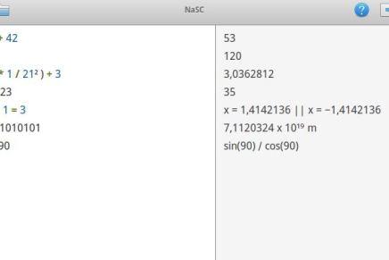 Matemáticas fáciles con NaSC
