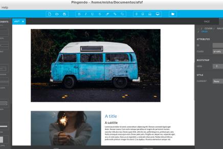 Pingendo, estupendo editor gráfico para crear tu web basadas en Bootstrap