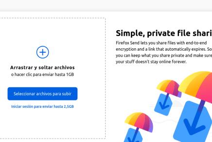 Envía documentos de manera segura con Firefox Send