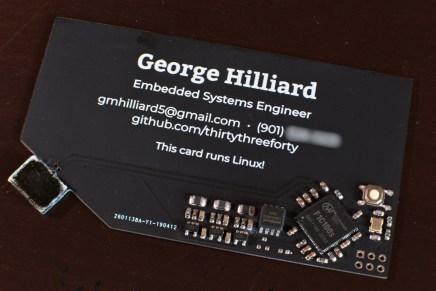 Esta tarjeta de visita es un ordenador Linux