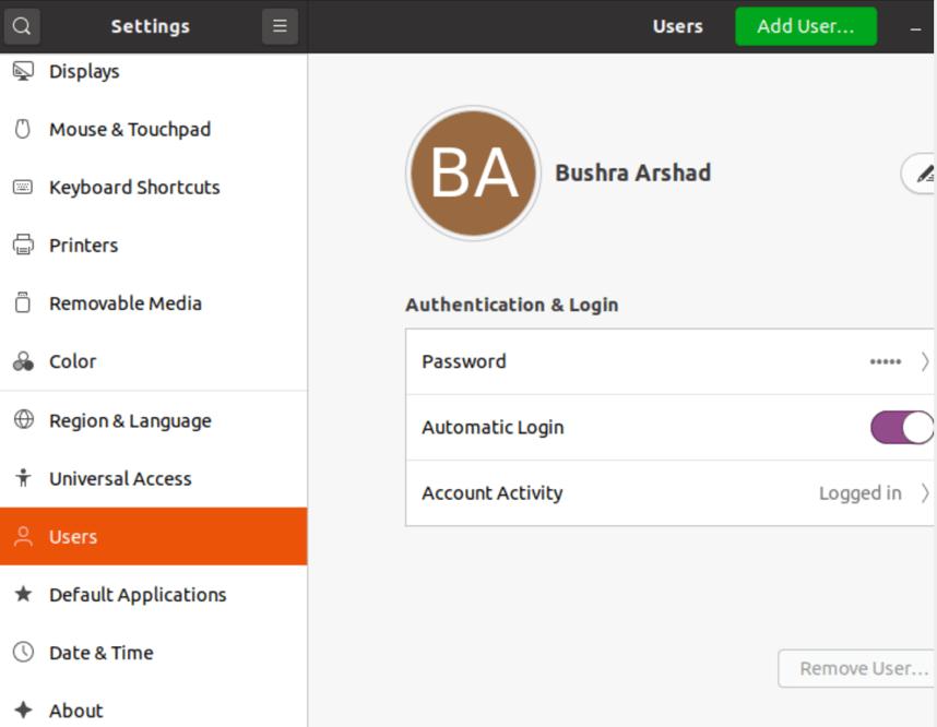 How to Enable Automatic Login on Ubuntu 20.04? 7