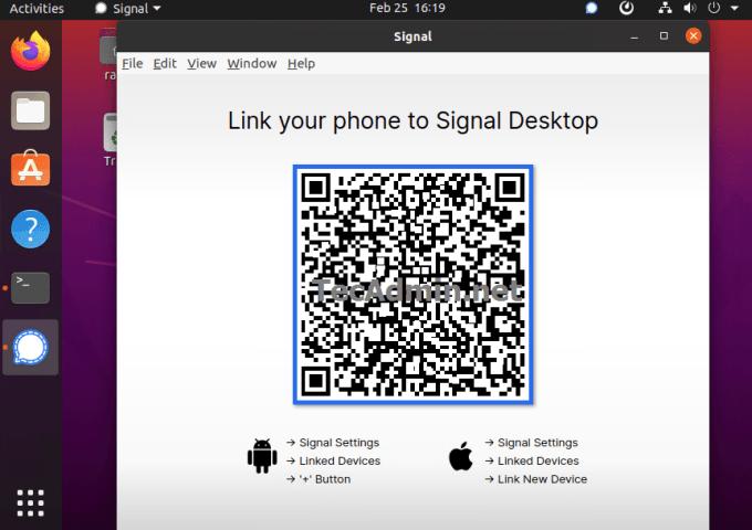 Installing Signal desktop on Ubuntu 20.04