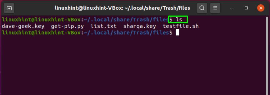 How to empty trash from Ubuntu terminal 6