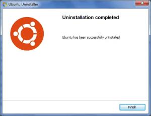 uninstall ubuntu