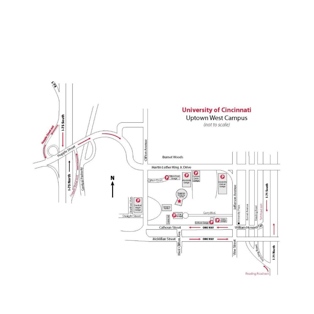 Directions and Maps, University of Cincinnati