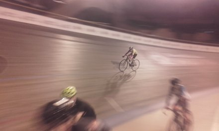 Entrainement piste sur le vélodrome de Bordeaux-Lac