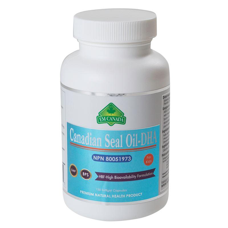 Nutragenius. Canadian Seal Oil-DHA (For kids) 120 softgel capsules