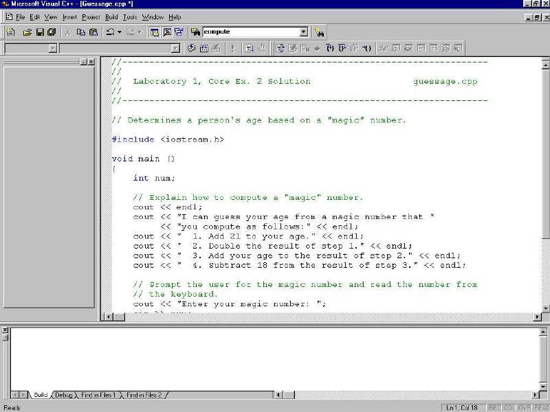Visual C Debug VC Debug Visual C Tutorial MFC