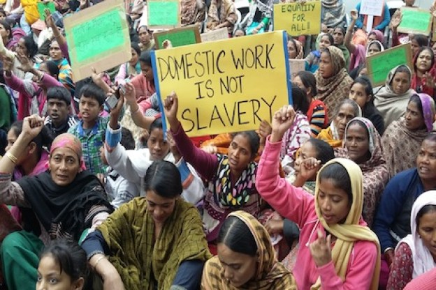 Indian domestic workers protest for job security, minimum wages - UCA News