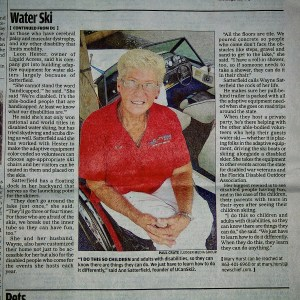 Wheel Chair Games News Paper Article