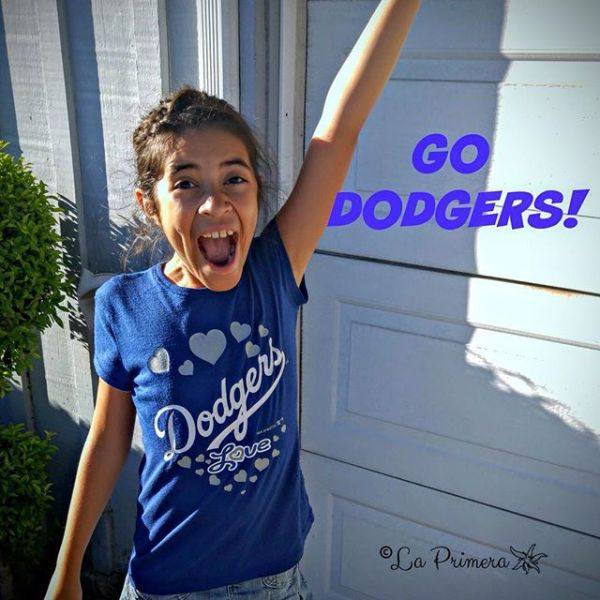 Gabi cheers on the Dodgers - Friday Footnote