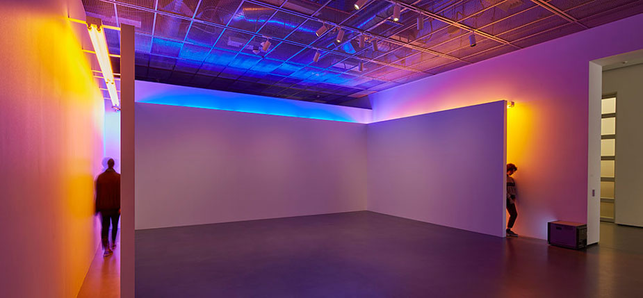 """Blue and Yellow Corridor"" installation"