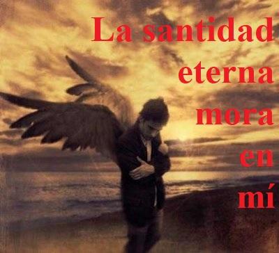 """Reflexión lección 299 (25.10.20) """"La santidad eterna mora en mí""""."""