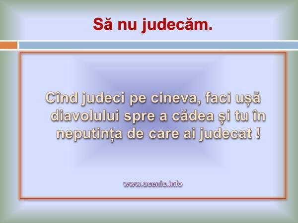 nu judeca