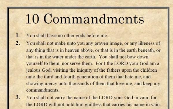 10 commandments bible # 8