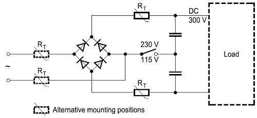 ntc thermistor circuit diagram