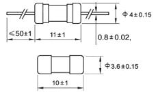 Glass Fuses , Slow Blow Time Delay Ceramic Fuses 3A 250V 3