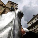 تمثال للبابا الراحل القديس يوحنا بولس الثاني في البوسنة