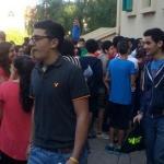 الطلاب أمام مراكز الإمتحانات