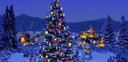 إضاءة أشجار وزينة الميلاد في عدد من مناطق المنية
