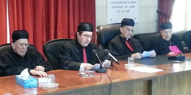 البيان الختامي لسينودس أساقفة الكنيسة المارونية