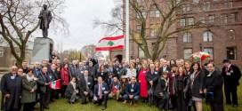 احتفال للجامعة اللبنانية الثقافية في تورونتو بمناسبة رفع العلم اللبناني على مبنى البرلمان