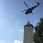 ارده احتفلت برفع تمثال مار جرجس على برجها السياحي