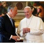 البابا فرنسيس يستقبل رئيس الجمهورية البرتغالية