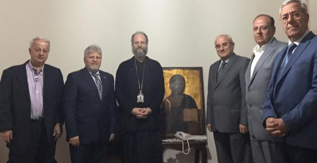 وفد المجلس الارثوذكسي زار راعي أبرشية جبل لبنان والبترون للارثوذكس مهنئا
