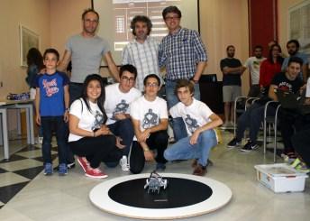 Ganadores de la categoría sumo en el Campus de Toledo