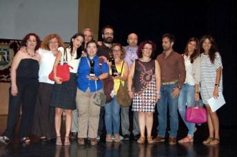 Imagen de grupo de los premiados en las distintas categorías del certamen