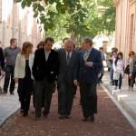 Juan Navarro Baldeweg con el rector, la consejera de Fomento y el director de la Escuela de Arquitectura, Juan I. Mera