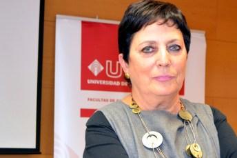 Mercedes Gallizo, en la Facultad de Derecho y Ciencias Sociales de Ciudad Real