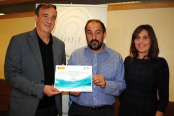 De izqda. a dcha: Santiago Yubero, Julián Garde y Sandra Sánchez