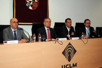 De izqda. a dcha: José Antonio Yeste, Pedro Carrión, Ángel Tejada y Miguel Ángel Alarcón