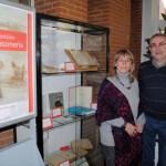 Responsables de la exposición en el Campus de Albacete