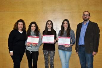 Junto a los profesores Mª del Valle de Moya y Ramón Cózar