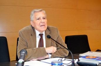 Carlos Jiménez Villarejo, durante su ponencia