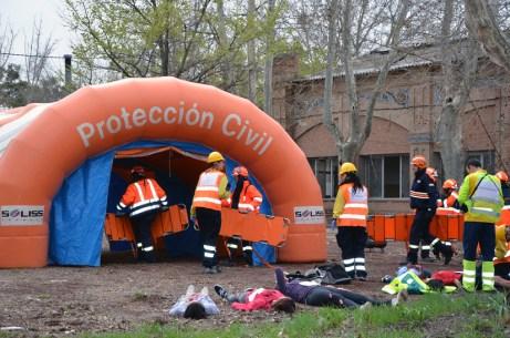 Puesto de atención médica de Protección Civil