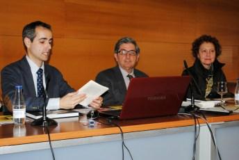 Fernando González, Miguel Cortés Arrese y Margarita Rigal