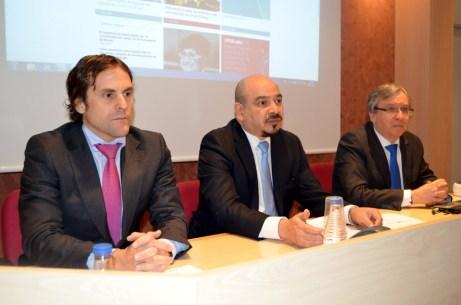 De izqda. a dcha.: Héctor Clemente, Carlos Alger y Juan Carlos López