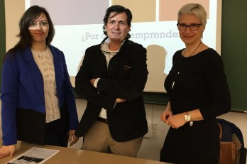 Esther Bautista, Matías Barchino y Catalina Fuster, en la apertura del encuentro