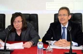 De izqda. a dcha.: Óscar Bajo y Vicente Orts, en la inauguración del seminario