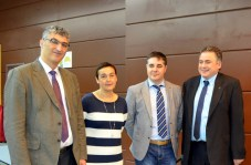 Desde la izquierda, los vicerrectores de Docencia y Estudiantes, el gerente de la UCLM y el presidente del Consejo Territorial de la ONCE en Castilla-La Mancha