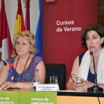 María Ángeles Zurilla y Alicia Valmaña en la inauguración del curso de verano