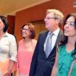 El rector, Miguel Ángel Collado, recibió a las alcaldesas en la Facultad de Derecho y Ciencias Sociales