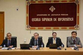 De izqda. a dcha: Miguel Ángel Redondo, Miguel Ángel Collado, Eduardo Fernández-Medina y Teudiselo Díaz