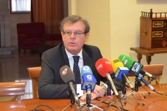 Miguel Ángel Collado, en su comparecencia ante los medios de comunicación