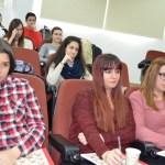 Un grupo de estudiantes asistentes a las jornadas