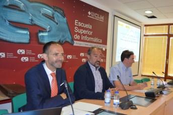 Desde la izquierda, José Ignacio Fernández, Julián Garde y Eduardo Fernández-Medina